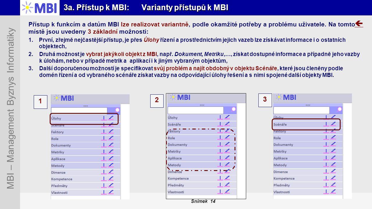 3a. Přístup k MBI: Varianty přístupů k MBI