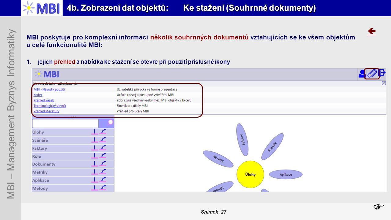 4b. Zobrazení dat objektů: Ke stažení (Souhrnné dokumenty)