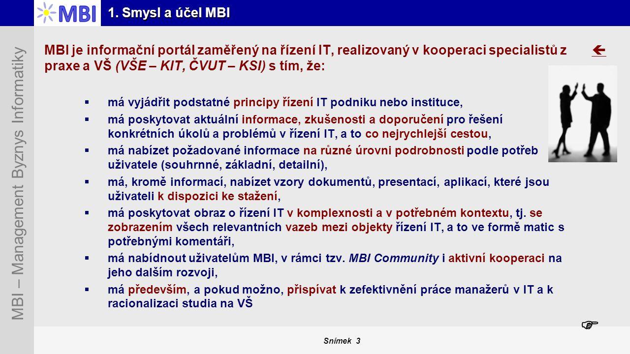 1. Smysl a účel MBI