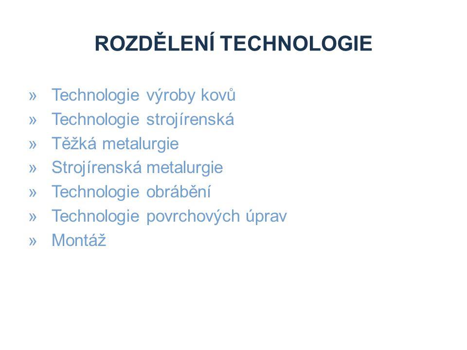 Rozdělení technologie