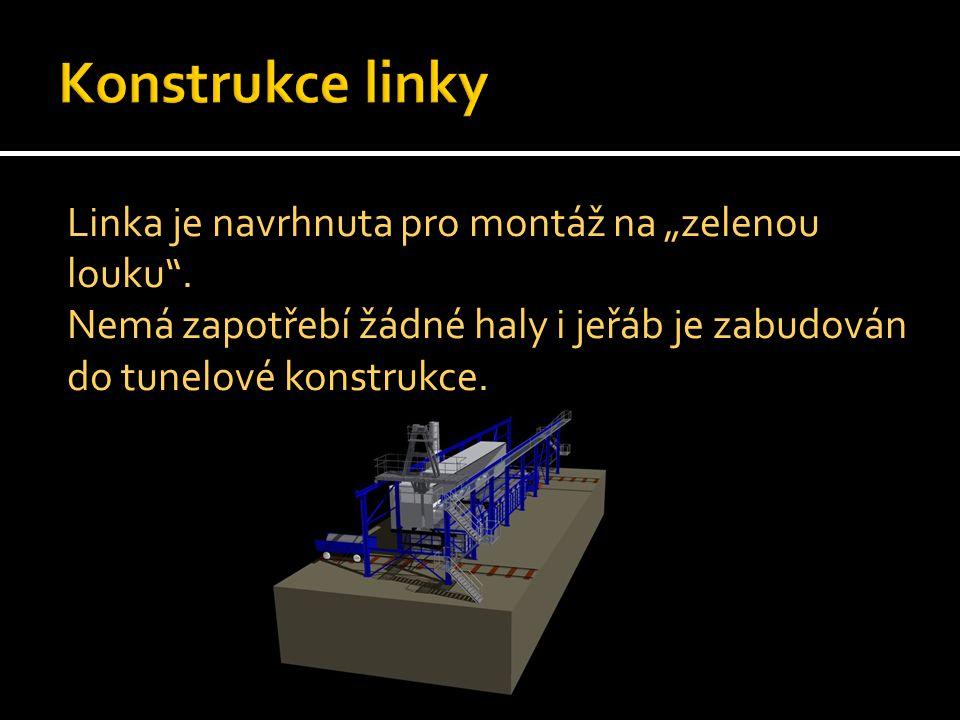 """Konstrukce linky Linka je navrhnuta pro montáž na """"zelenou louku ."""