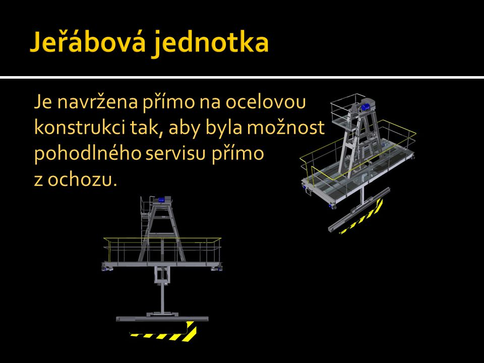 Jeřábová jednotka Je navržena přímo na ocelovou