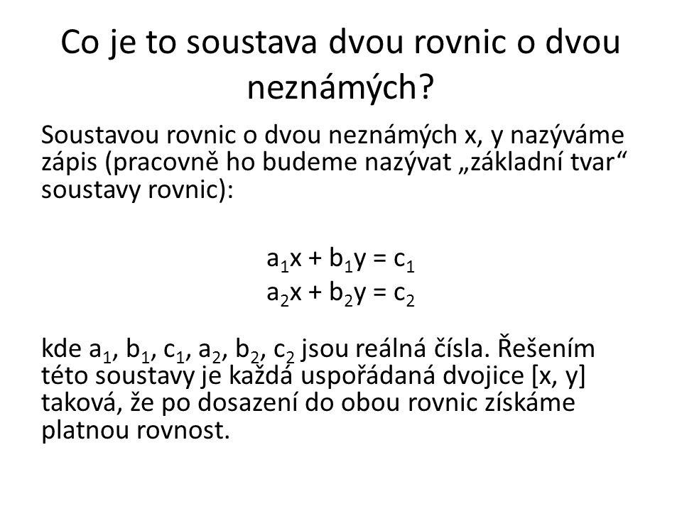 Co je to soustava dvou rovnic o dvou neznámých