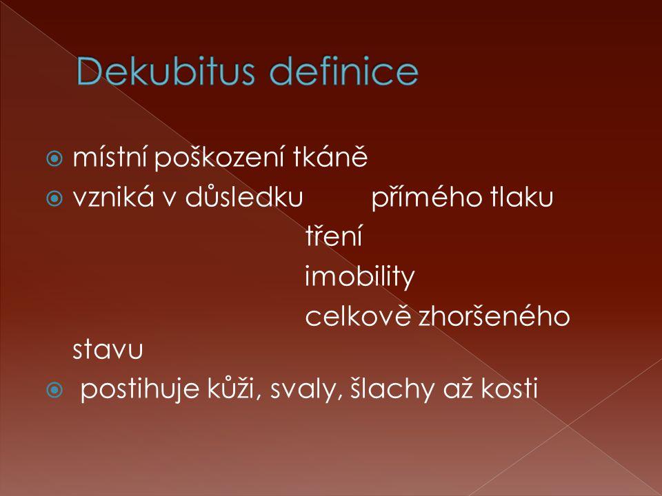 Dekubitus definice místní poškození tkáně