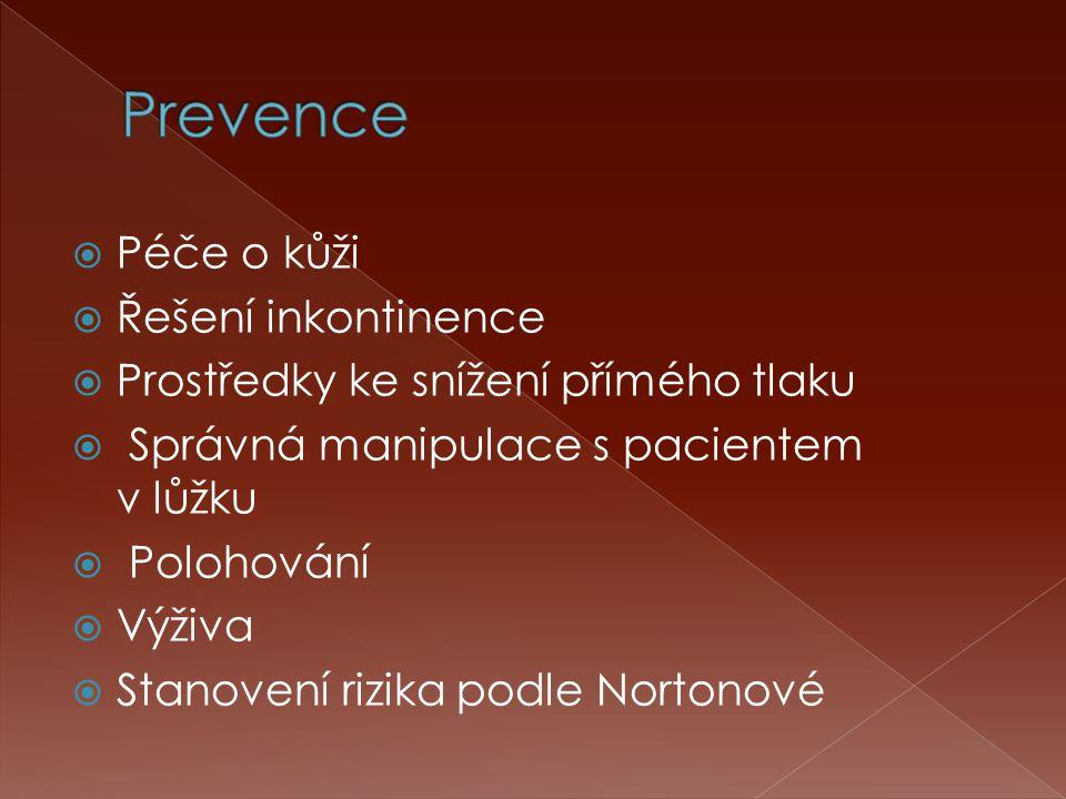Prevence Péče o kůži Řešení inkontinence