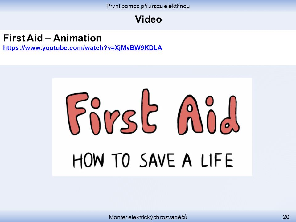 Video First Aid – Animation