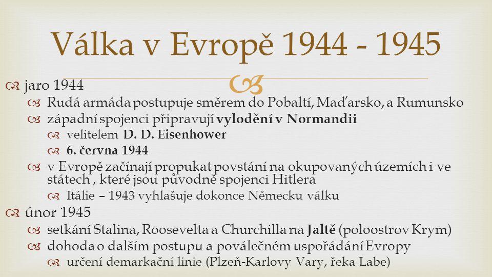 Válka v Evropě 1944 - 1945 jaro 1944 únor 1945