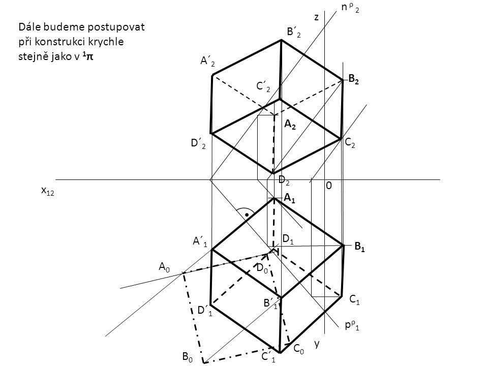 n ρ 2 z. Dále budeme postupovat při konstrukci krychle stejně jako v 1π. B´2. A´2. B2. C´2. A2.