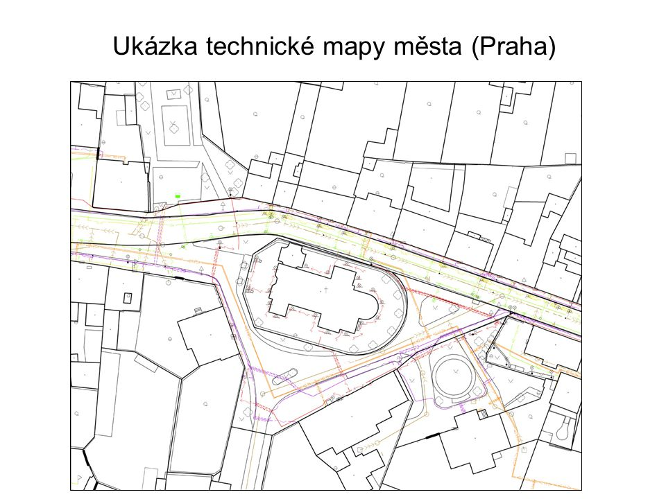 Ukázka technické mapy města (Praha)