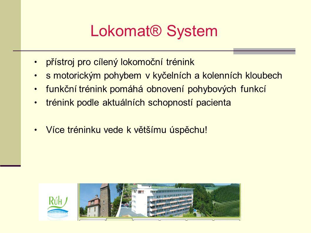 Lokomat® System přístroj pro cílený lokomoční trénink