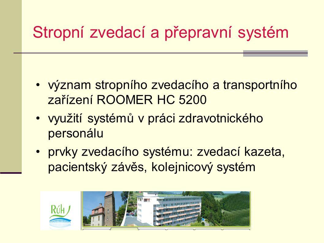 Stropní zvedací a přepravní systém