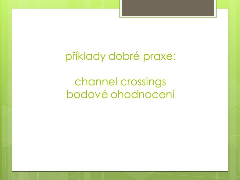 příklady dobré praxe: channel crossings bodové ohodnocení
