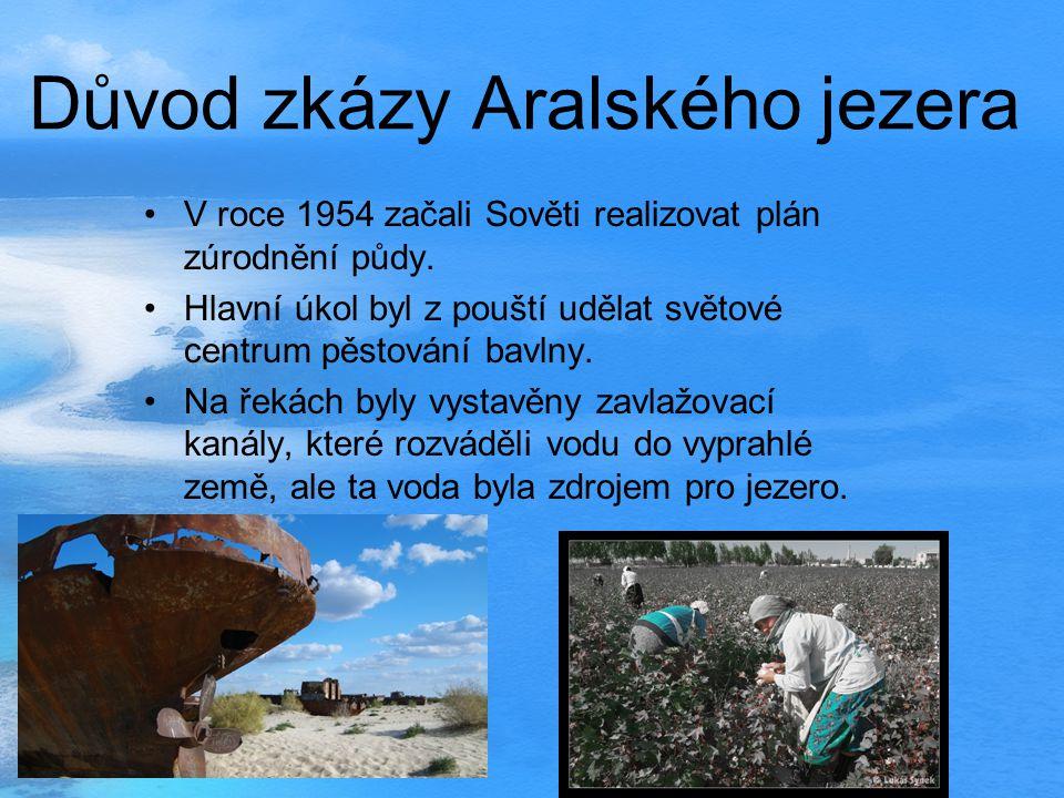 Důvod zkázy Aralského jezera
