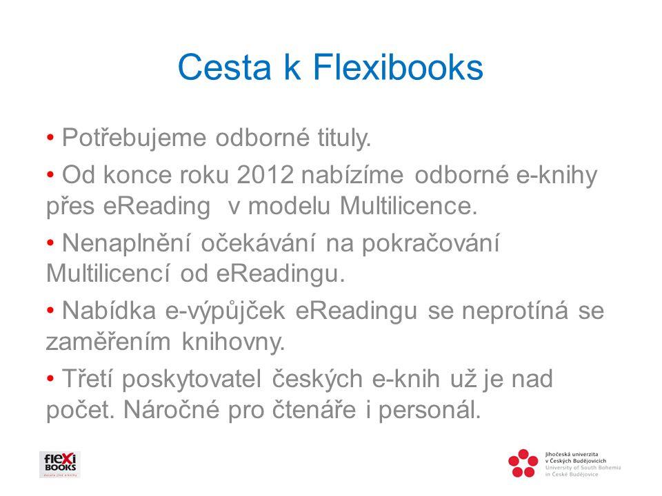 Cesta k Flexibooks • Potřebujeme odborné tituly.