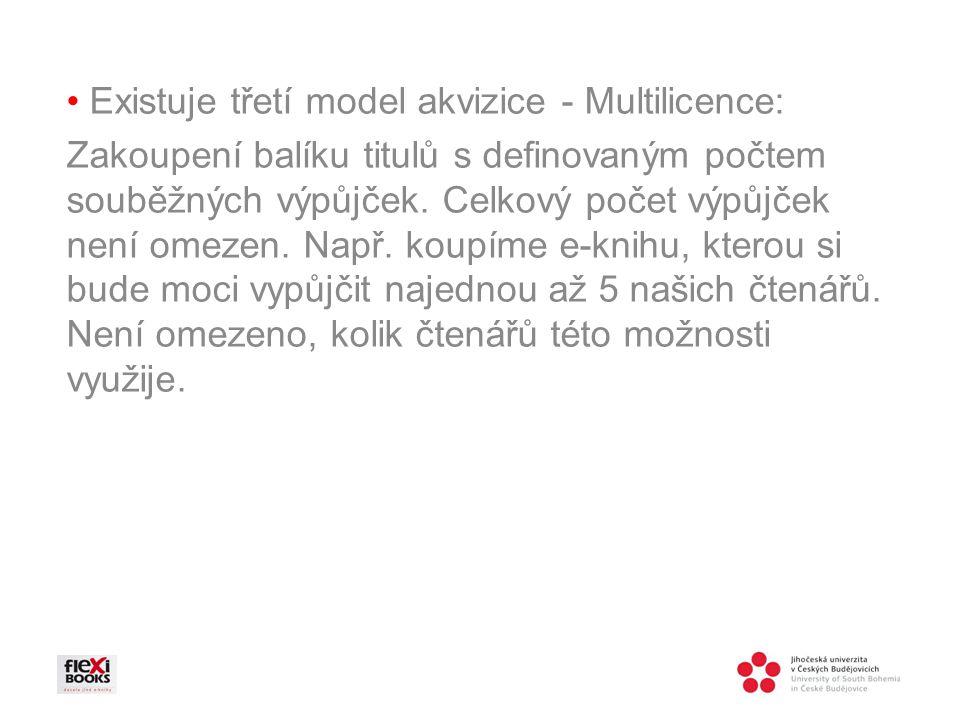 • Existuje třetí model akvizice - Multilicence: