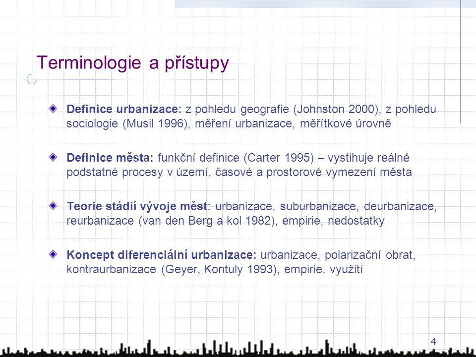 Terminologie a přístupy