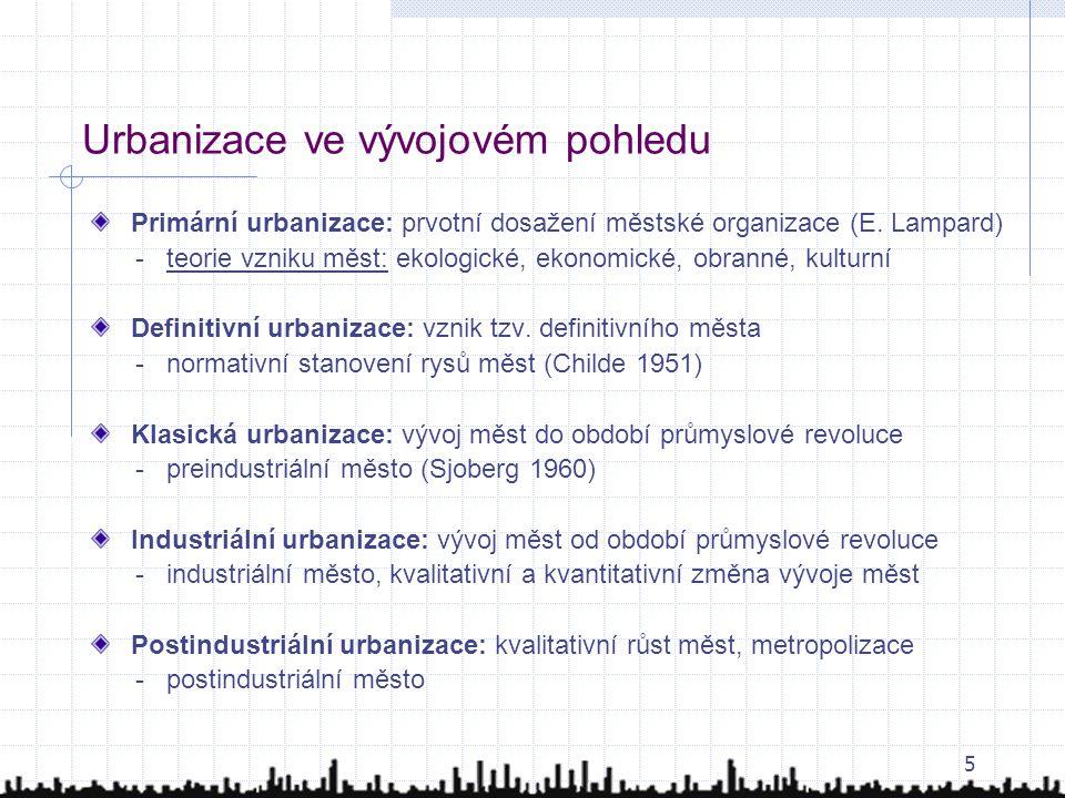 Urbanizace ve vývojovém pohledu