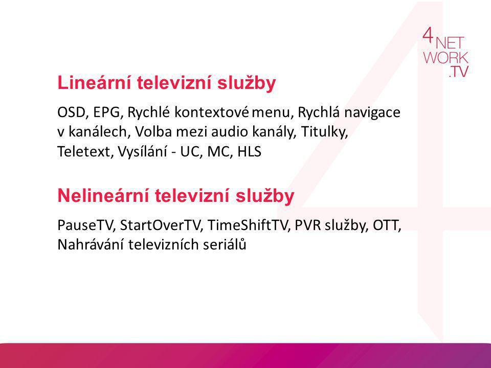 Lineární televizní služby