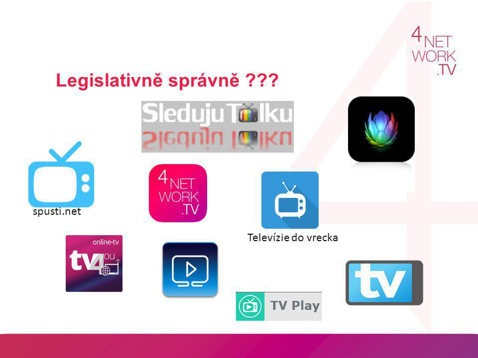 Legislativně správně spusti.net Televízie do vrecka