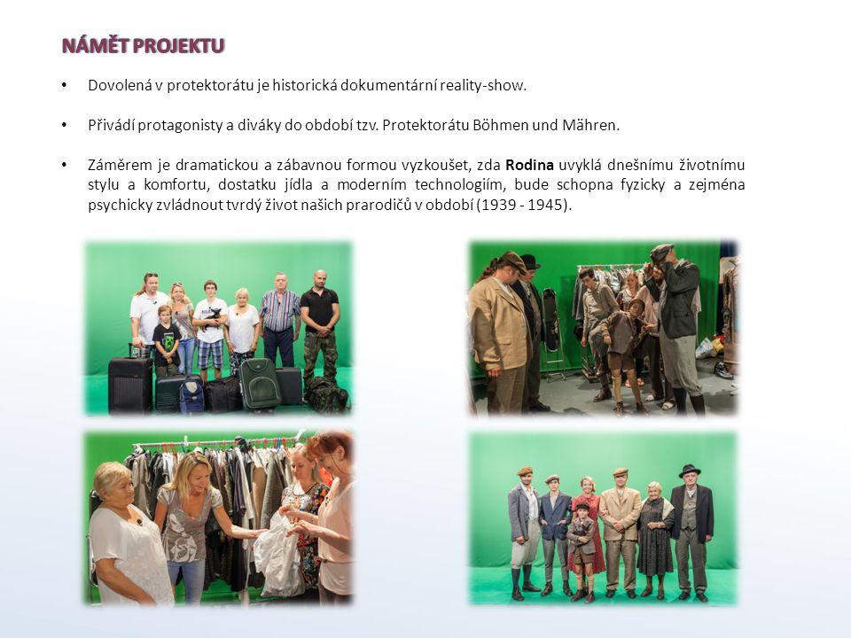 Námět projektu Dovolená v protektorátu je historická dokumentární reality-show.