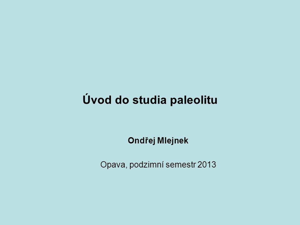 Úvod do studia paleolitu