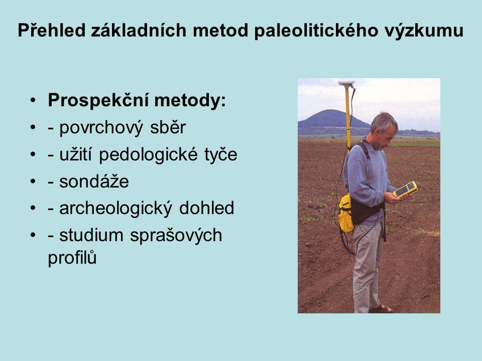 Přehled základních metod paleolitického výzkumu