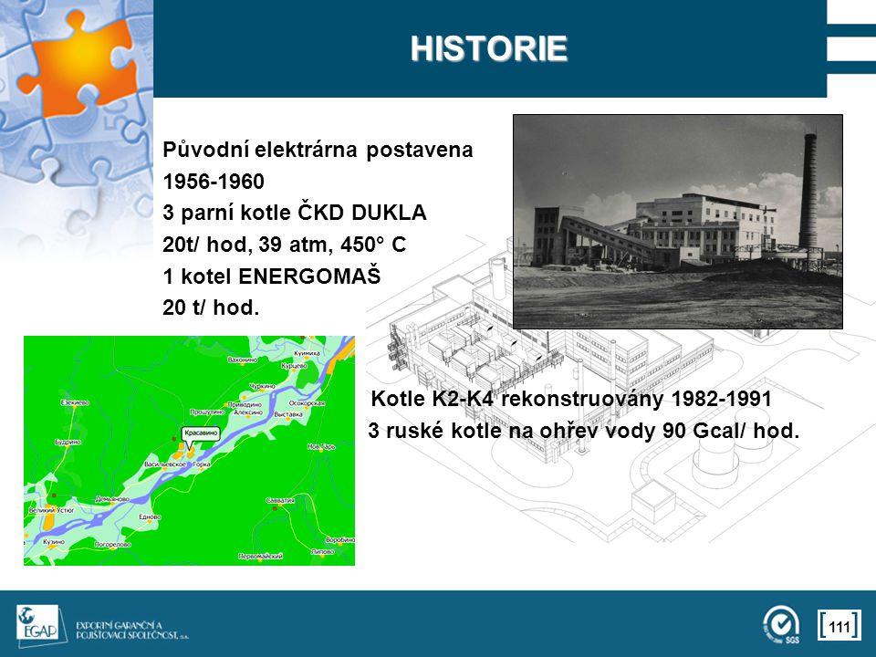HISTORIE Původní elektrárna postavena 1956-1960