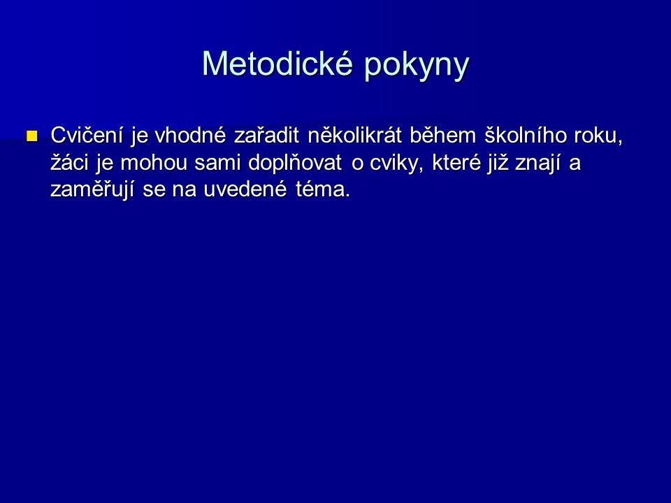 Metodické pokyny