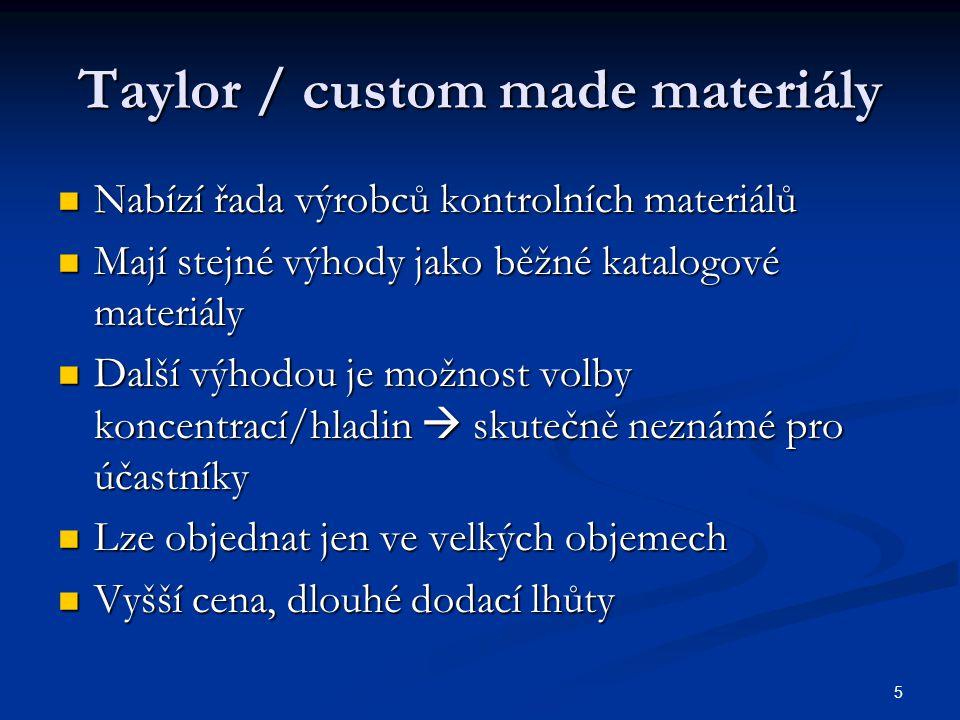 Taylor / custom made materiály