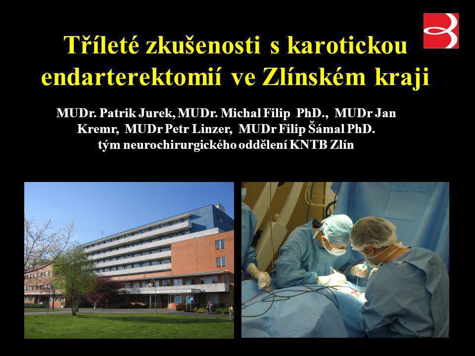 Tříleté zkušenosti s karotickou endarterektomií ve Zlínském kraji