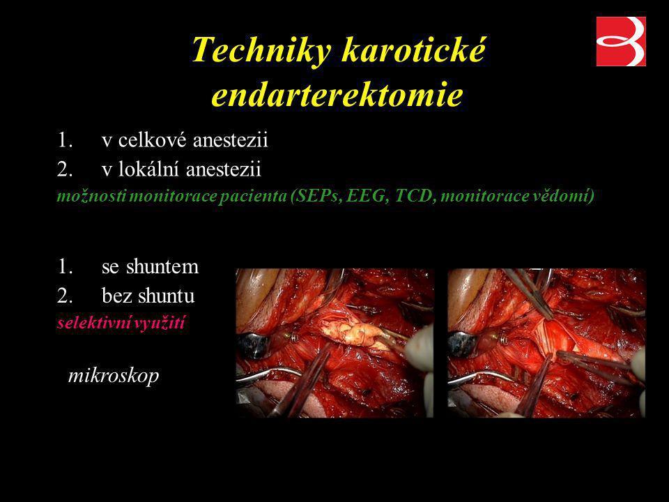 Techniky karotické endarterektomie