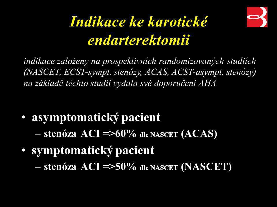Indikace ke karotické endarterektomii