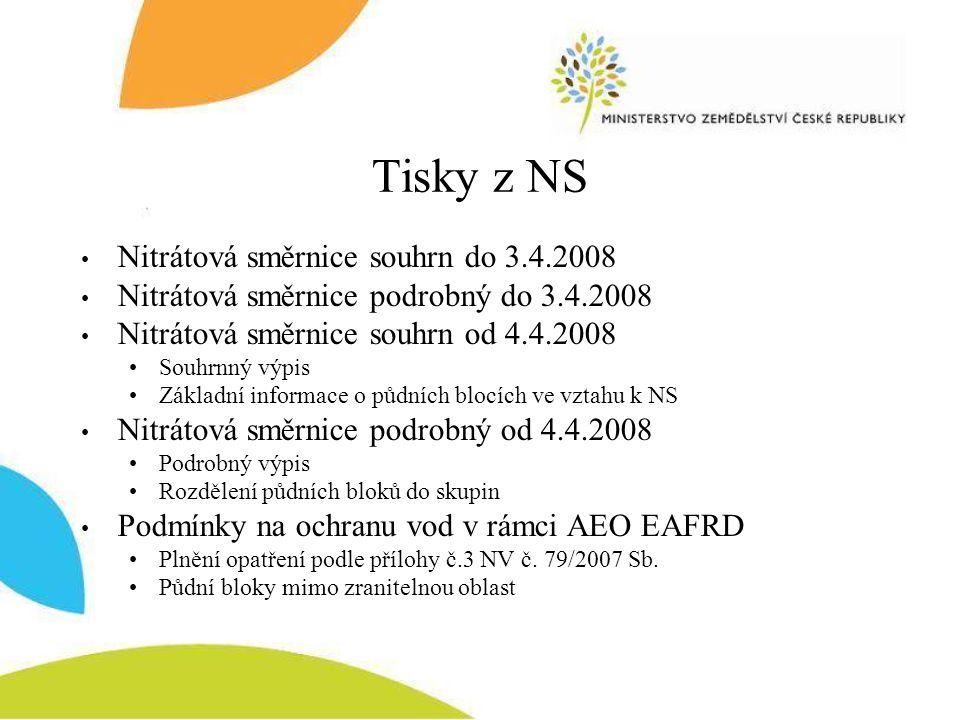 Tisky z NS Nitrátová směrnice souhrn do 3.4.2008