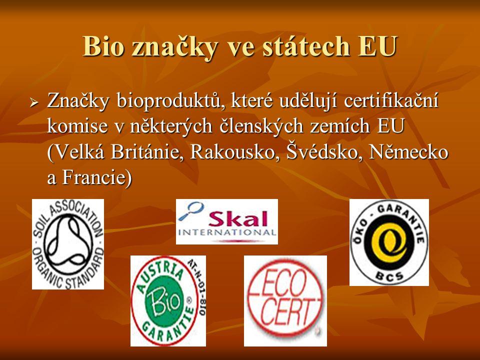 Bio značky ve státech EU