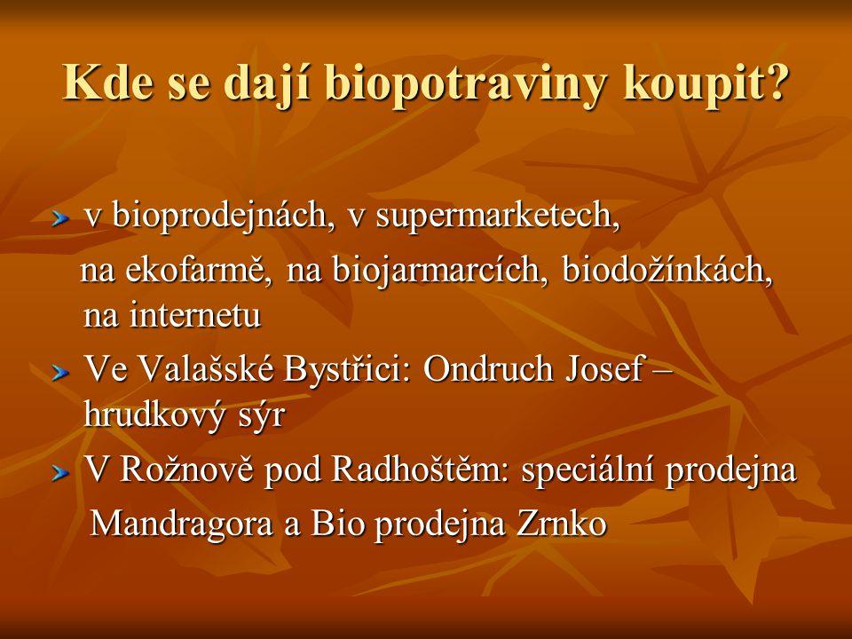 Kde se dají biopotraviny koupit