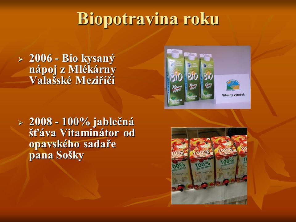 Biopotravina roku 2006 - Bio kysaný nápoj z Mlékárny Valašské Meziříčí