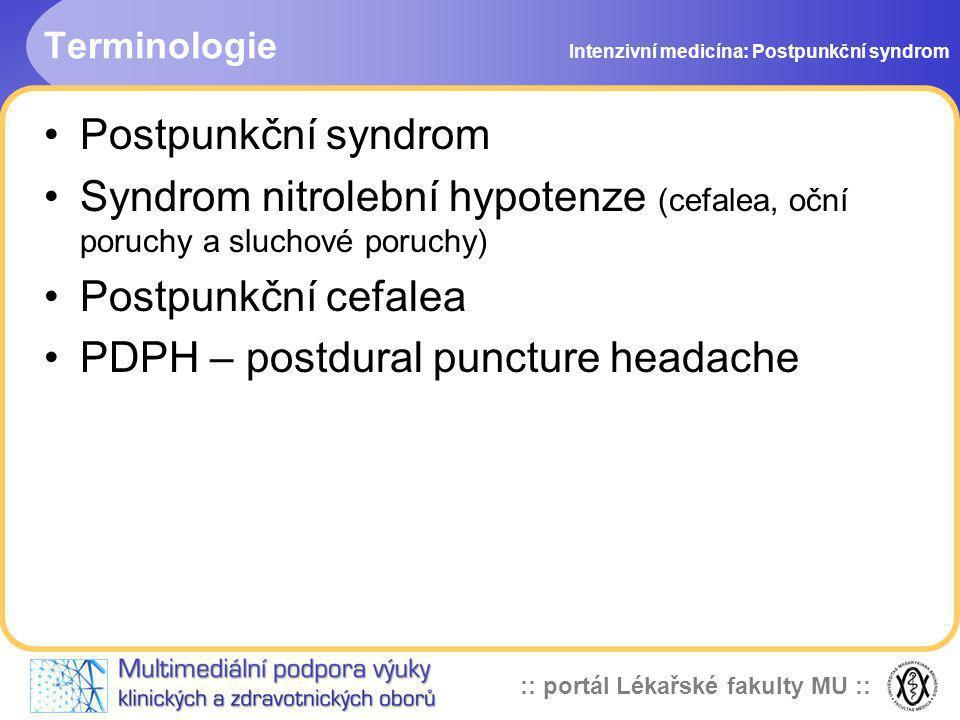 PDPH – postdural puncture headache