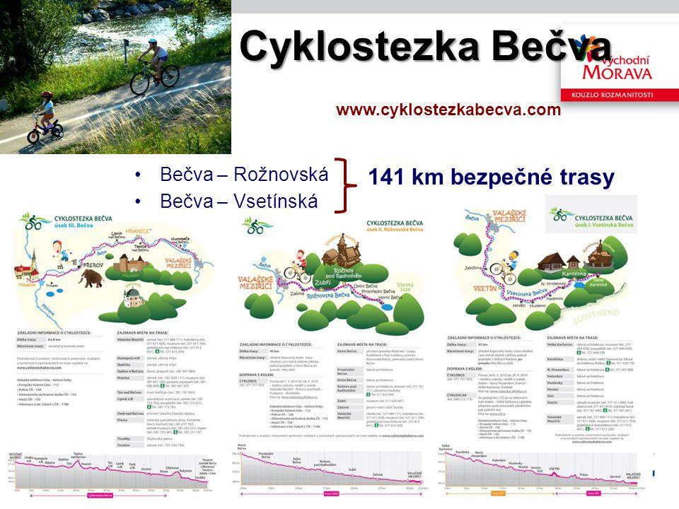 Cyklostezka Bečva 141 km bezpečné trasy Bečva – Rožnovská