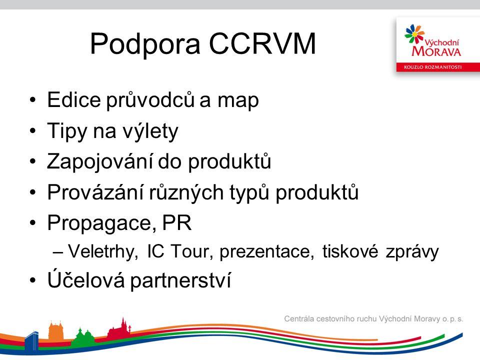 Podpora CCRVM Edice průvodců a map Tipy na výlety