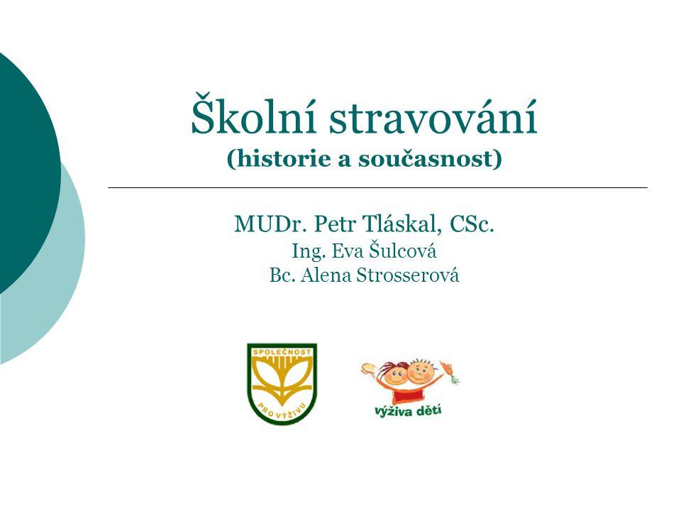 Školní stravování (historie a současnost) MUDr. Petr Tláskal, CSc. Ing