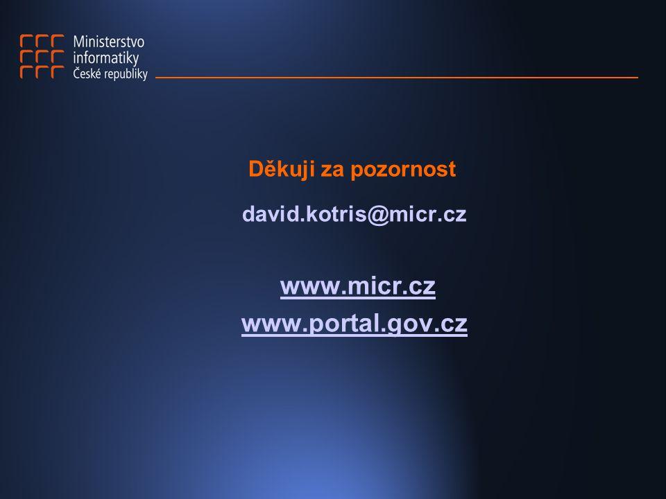 www.micr.cz www.portal.gov.cz