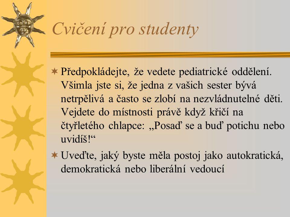 Cvičení pro studenty