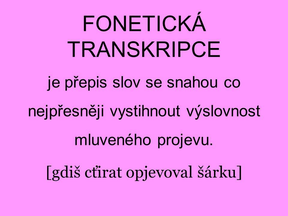 FONETICKÁ TRANSKRIPCE