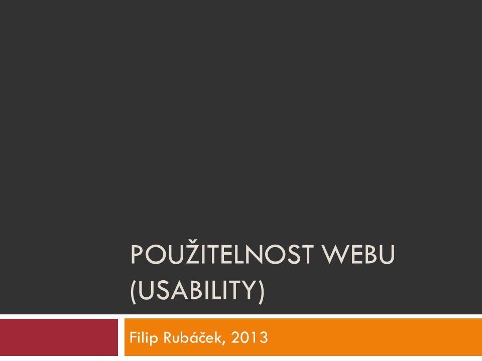 použitelnost webu (usability)