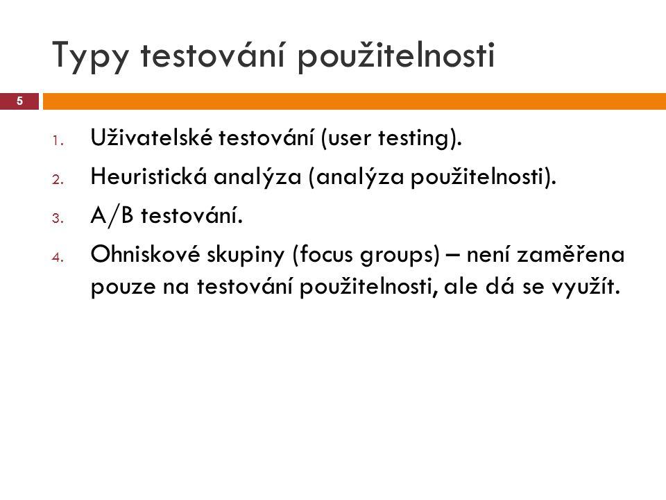 Typy testování použitelnosti
