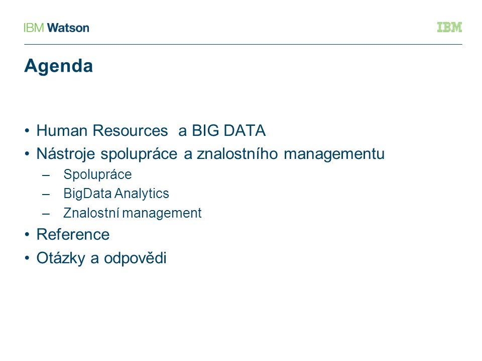 Agenda Human Resources a BIG DATA
