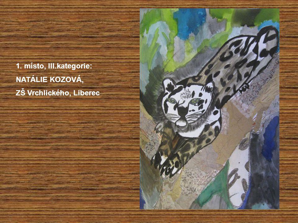 1. místo, III.kategorie: NATÁLIE KOZOVÁ, ZŠ Vrchlického, Liberec