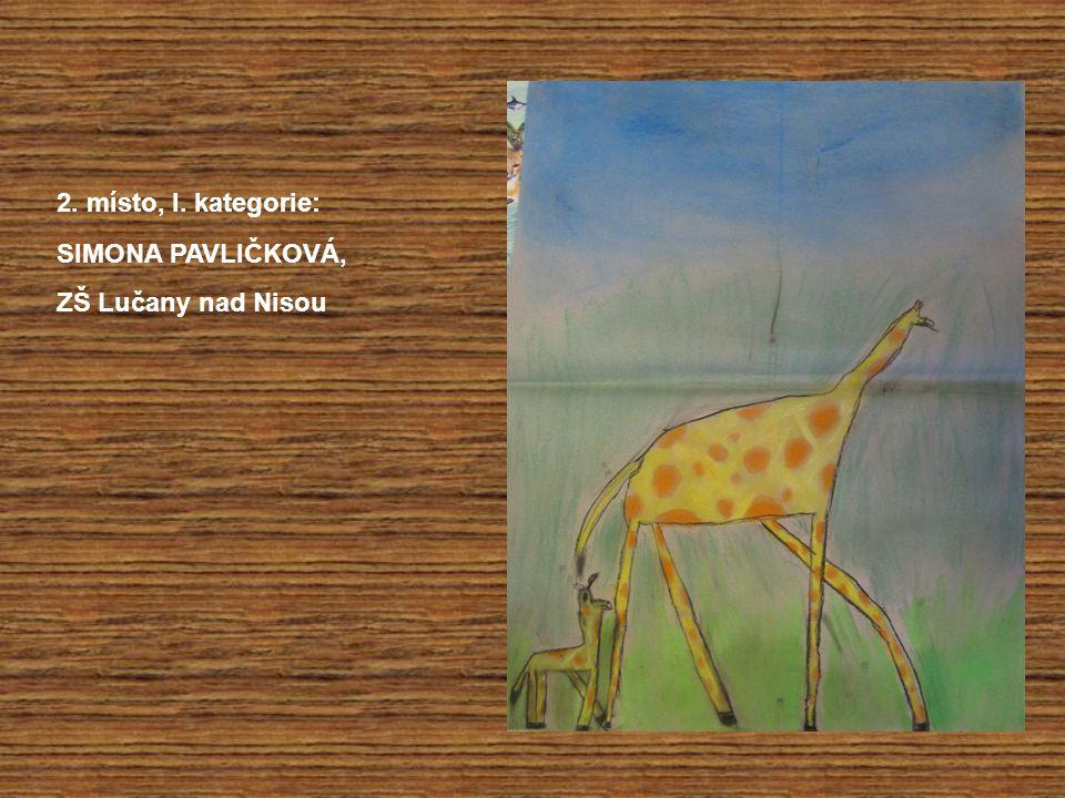 2. místo, I. kategorie: SIMONA PAVLIČKOVÁ, ZŠ Lučany nad Nisou