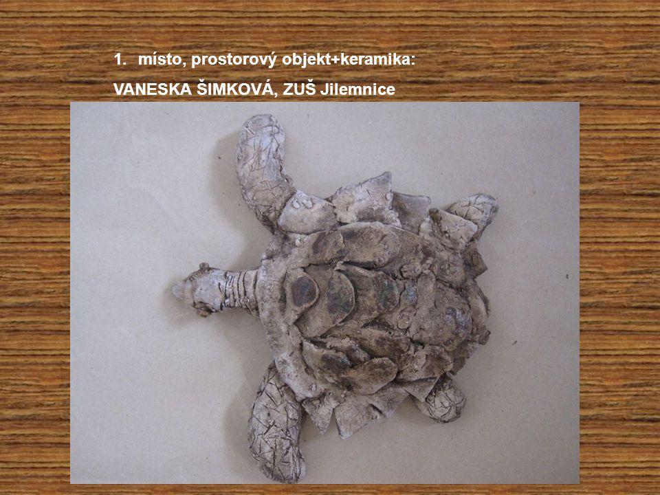 místo, prostorový objekt+keramika: