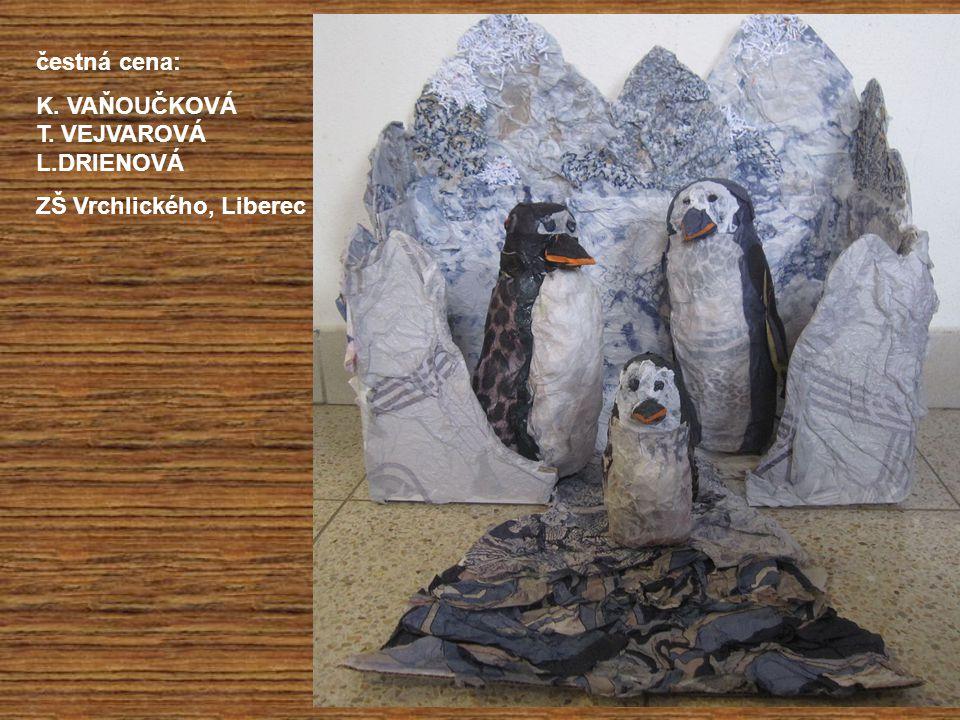 čestná cena: K. VAŇOUČKOVÁ T. VEJVAROVÁ L.DRIENOVÁ ZŠ Vrchlického, Liberec